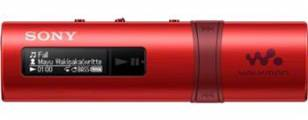 Sony NWZ-B183F – přehrávač WALKMAN s portem USB, FM radio, 4GB, red