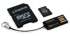 Kingston microSDHC 16GB + adaptér + USB čtečka