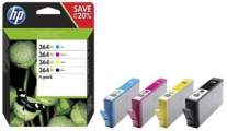 HP 364XL CMYK Ink Cartridge Combo 4-Pack, N9J74AE