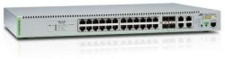 AT-GS9000/28POE - Managed switch 28x10/100/1000TX (24x PoE) + 4x combo SFP, PoE 370W