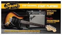 FENDER SQUIER Stop Dreaming, Start Playing!™ Set: Affinity Series™ Strat®HSS, Brown Sunburst