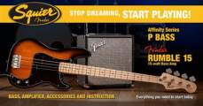 FENDER SQUIER Stop Dreaming, Start Playing!™ Set: Affinity Series™ Precision Bass®, Brown Sunburst