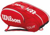 Taška na rakety Wilson Mini Tour 6 Bag Red