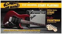 FENDER SQUIER Stop Dreaming, Start Playing!™ Set: Affinity Series™ Strat®HSS, Candy Apple Red