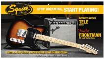 FENDER SQUIER Stop Dreaming, Start Playing!™ Set: Affinity Series™ Tele®, Brown Sunburst