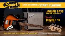 FENDER SQUIER Stop Dreaming, Start Playing!™ Set: Affinity Series™ Jaguar Bass® Special SS, Brown Sunburst