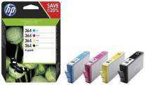 HP 364 CMYK Ink Cartridge Combo 4-Pack, N9J73AE - N9J73AE