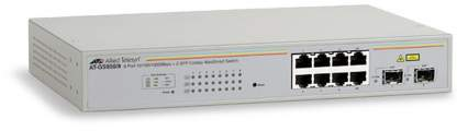 Allied Telesis 8xGB+2xSFP Smart switch AT-GS950/8 - Allied Telesis 8xGB+2xSFP Smart switch AT-GS950/8