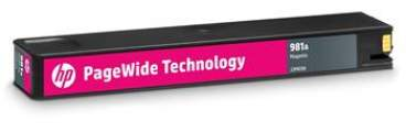 HP 981A Magenta Original PageWide Cartridge, J3M69A - J3M69A