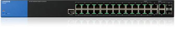 Linksys LGS528 Managed Gigabit PoE Switches 24-port, L2