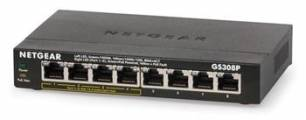 Netgear 8PT UNMANAGED POE SWITCH (metal case) - GS308P-100PES
