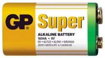 Baterie GP SuperAlkaline 9VA, 9V 1ks - GP 1604A