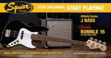FENDER SQUIER Stop Dreaming, Start Playing!™ Set: Affinity Series™ Jazz Bass®, Black
