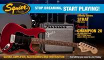 FENDER SQUIER SDSP Set Affinity Stratocaster HSS / Fender Champion 20 Candy Apple Red Rosewood