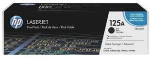 HP 125A Toner Cart Black pro HP CLJ CP1215, CB540AD Dual pack