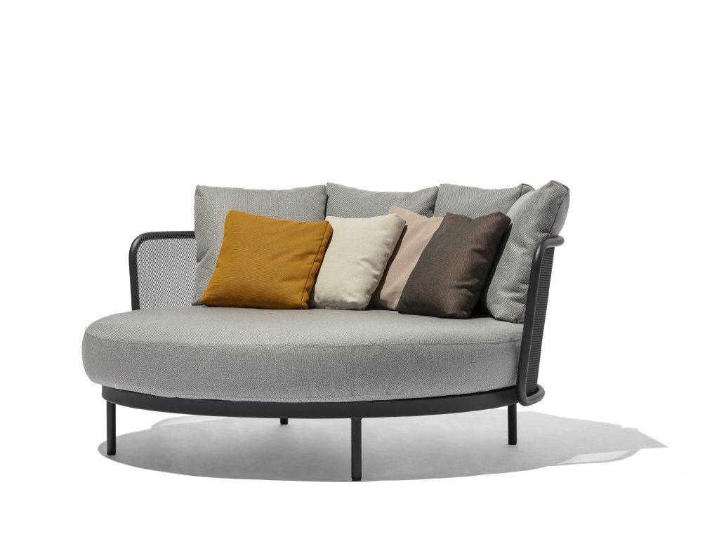 Kulatá zahradní postel pro váš dokonalý relax. Zdroj: Sunsystem.cz